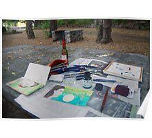 Atelier en plein air Poster