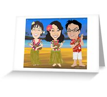 Caricatures Greeting Card