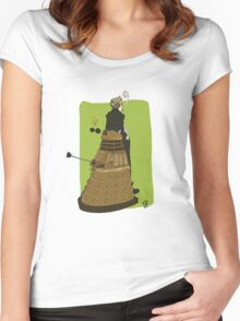 Wholock Moran and the Dalek Women's Fitted Scoop T-Shirt
