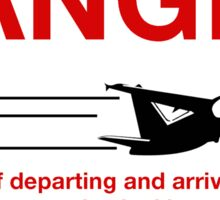 Danger Jet Blast, Sign, Netherlands Antilles Sticker