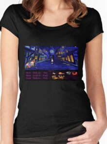 Melee Island streets (Monkey Island 1) Women's Fitted Scoop T-Shirt