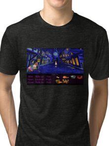 Melee Island streets (Monkey Island 1) Tri-blend T-Shirt