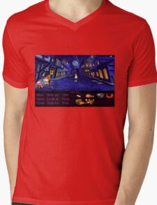 Melee Island streets (Monkey Island 1) Mens V-Neck T-Shirt