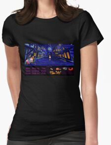 Melee Island streets (Monkey Island 1) Womens Fitted T-Shirt