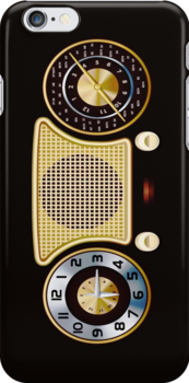 Vintage Radio Receiver iPod / iPhone 4 Case by CroDesign