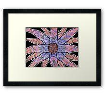 abstract flower Framed Print
