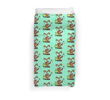 The Easter Bunny wishes you Happy Easter Duvet Cover