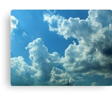Phone Lines Through the Clouds Canvas Print