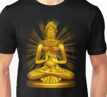 Buddha Siddhartha Gautama Golden Statue Unisex T-Shirt