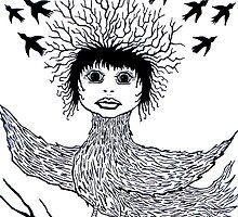 bird hair day by rebeccah fries