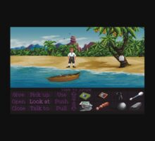Finally on Monkey Island (Monkey Island 1) Kids Tee