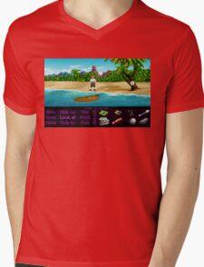 Finally on Monkey Island (Monkey Island 1) Mens V-Neck T-Shirt