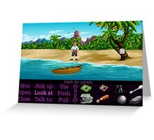 Finally on Monkey Island (Monkey Island 1) Greeting Card