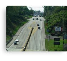 Highway Driving Canvas Print