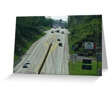 Highway Driving Greeting Card