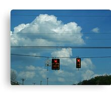 A Stop in the Clouds Canvas Print