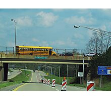 School Bus Construction Photographic Print