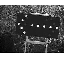 Merge Left (Black and White) Photographic Print
