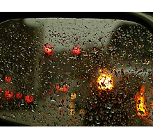 Lights in the Wet Darkness Photographic Print