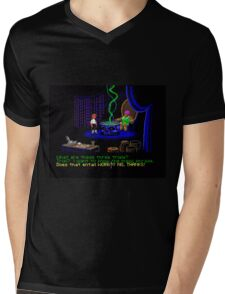 Asking about the Three Trials (Monkey Island 1) Mens V-Neck T-Shirt