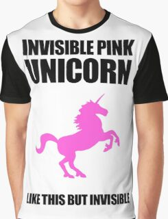 Invisible Pink Unicorn Graphic T-Shirt