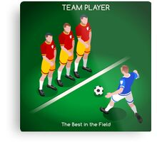Football Team Player Metal Print