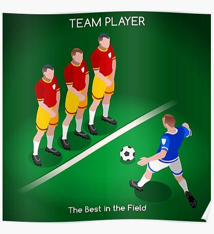 Football Team Player Poster