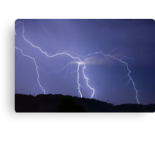 Streaked lightning Canvas Print