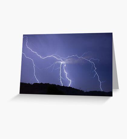 Streaked lightning Greeting Card