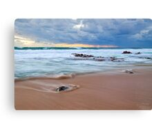 Receeding Waves at Injidup Beach Canvas Print