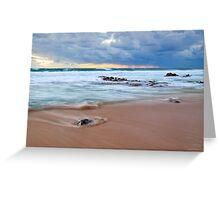 Receeding Waves at Injidup Beach Greeting Card
