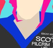 Scott Pilgrim Verses The World - Saul Bass Inspired Poster (Untextured) Sticker