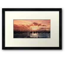 Scarborough Marina Sunset 4 May 2012 Framed Print