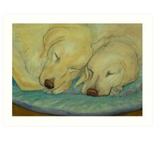 Two Labradors are better than one Art Print