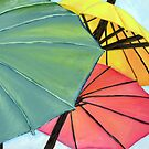Three Umbrella's by Jewel  Charsley