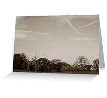 Cloud trails Greeting Card