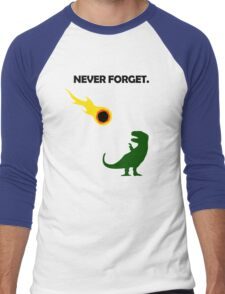 Never Forget (Dinosaurs) Men's Baseball ¾ T-Shirt