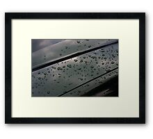 rain on fresh polish Framed Print