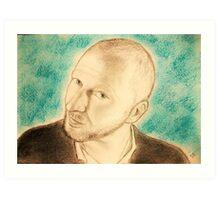 Blue portrait CV... Art Print