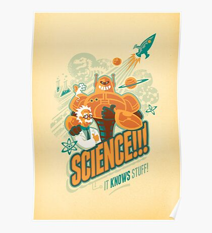 Science!!! It Knows Stuff! Poster