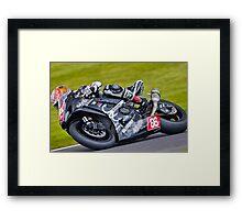 Motorbike racing . Framed Print