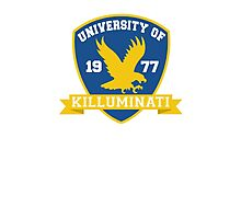 University of Killuminati shield Photographic Print
