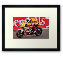 Motorbike racing .BSB   ( Guy Martin ) Framed Print