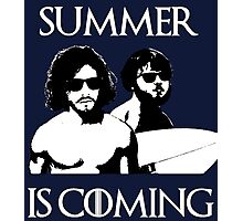 Summer is coming - white Photographic Print