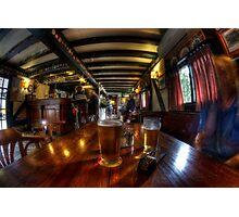 Having a quiet ale at the pub Photographic Print