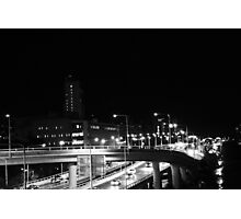 Driving through the city lights Photographic Print