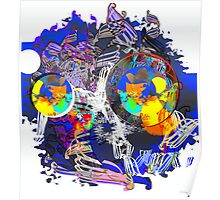 Blue Abstract 2012 Poster