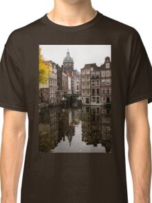 Amsterdam - Reflecting on Autumn Canal Houses Classic T-Shirt