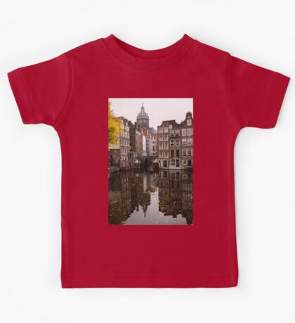 Amsterdam - Reflecting on Autumn Canal Houses Kids Tee
