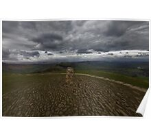 View From Mam Tor Poster
